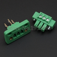 10 Set 3.81MM Screw Pluggable Terminal Blocks Connector KF15CDGV-3.81 with Flange 2/3/4/5/6/7/8/9/10 Pin Way Copper Panel Mount(China)