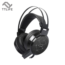 TTLIFE C13 Game Headphone Computer Big Headset Bass Headphones RGB Colorful Breath Light Technology Game Audio Headsets(China)