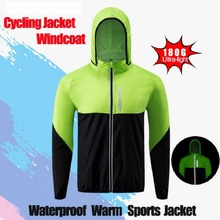Autumn Long Sleeve Reflective Mountain Bike Wind Jacket Windproof Rain Coat Cycling Motocross Windbreaker Bicycle Jersey Wear(China)