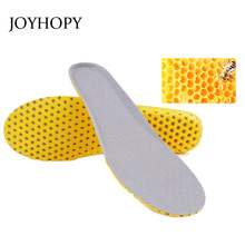 JOYHOPY 1pair Women Men Stretch Breathable Deodorant Shoe Running Cushion Insoles Pad Insert 35- 40 41- 46