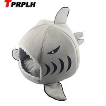 TPRPLH Pet Products Warm Soft Cat House Pet Sleeping Bag Shark Dog Kennel Cat Bed Size S/L