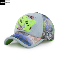 2017 Fashion Women Baseball Cap Brand NY Letter Casquette NY Denim Lace Design Bones Snapback NY Hats For Women Adjustable Size(China)