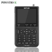 "POWSTRO K WS-6906 DVB-S FTA Data Digital Satellite Signal Meter Detector Finder 3.5"" LCD EU UA UK Plug for TV AV"
