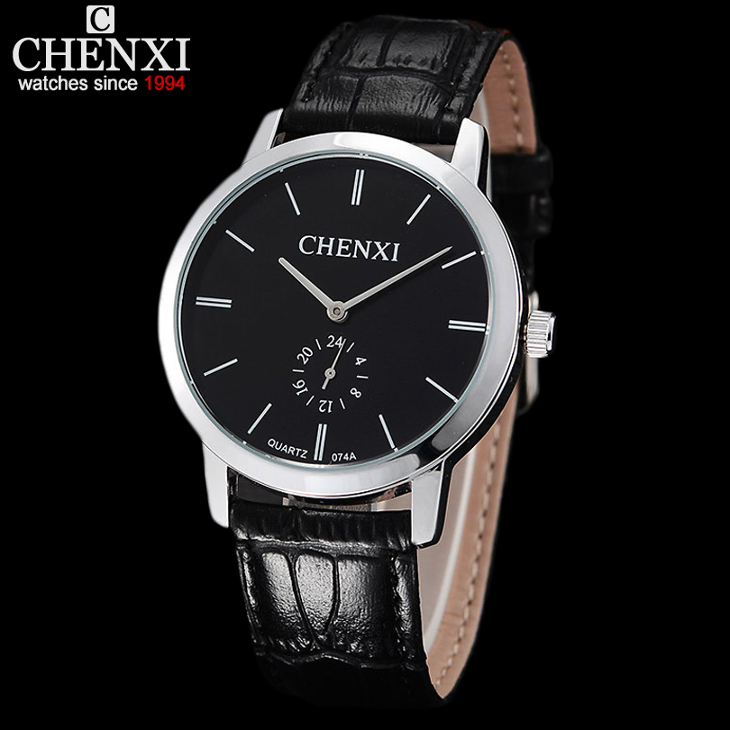 NEW CHENXI BRAND DIAL MALE CLOCK HOURS HAND DATE BLACK LEATHER STRAPS MENS QUARTZ WRIST WATCH 3ATM WATERPROOF WRISTWATCHES MAN<br><br>Aliexpress