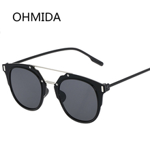 OHMIDA New Fashion Sunglasses Women Brand Designer Cat Eye Sun Glasses Luxury Brand Shade Mirror Glass Men Sunglasses Female