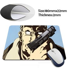 ghost in the shell Rubber Soft aming Mouse ames Black Mouse pad