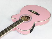 Pink color guitars 40-43 40 inch high quality Electric Acoustic Guitar Rosewood Fingerboard guitarra with guitar strings