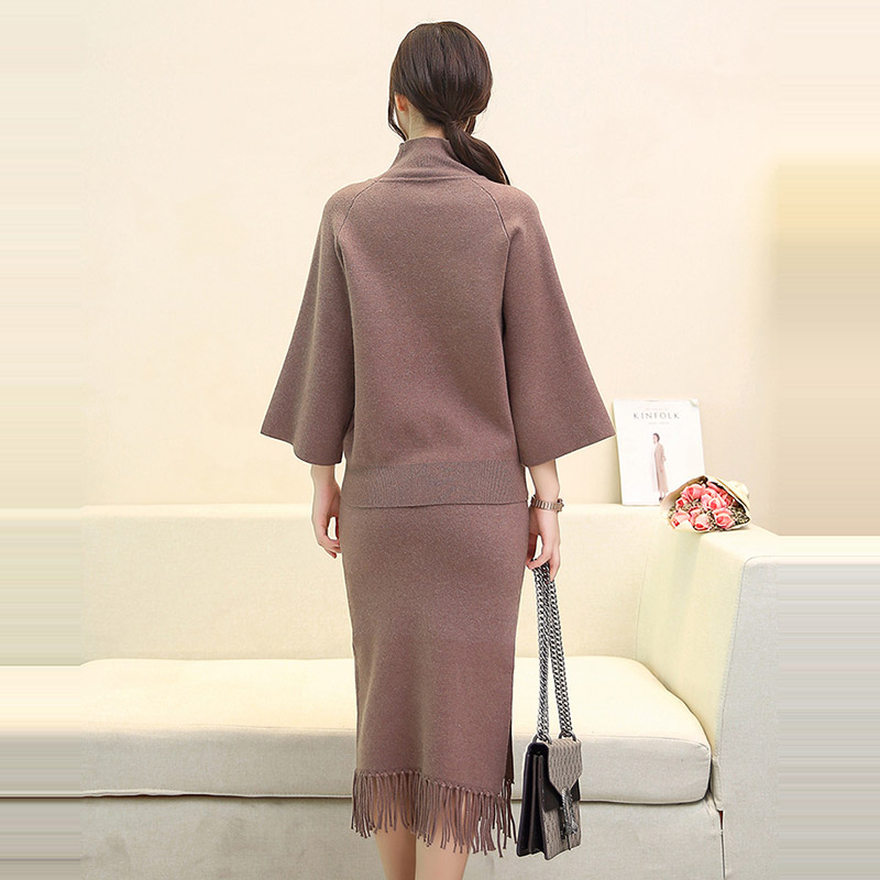 4-Colors-Sets-Knitted-Two-Piece-Suit-Sweater-High-Waist-Skirt-Two-Piece-Sets2017-Horn-Sleeve (3)