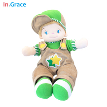 In.Grace big size kids plush and stuffed toys cute style girl dolls safe and soft material sleep calm dolls pink doll free ship(China)