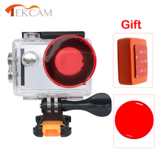 Tekcam 30m Waterproof Diving Case Housing with Lens Protector Cover Floating Box Mount For Eken H9/h9r H8/H8R H3/H3R V8S