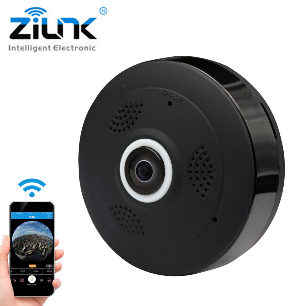 ZILNK 1080P HD FishEye IP Camera 360 Degree Panoramic Wireless Mini WIFI Camera Night Vision IR Support 64GB TF Card <br>