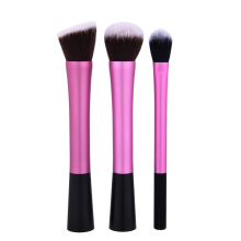3pcs/set Rose Red Handle Mixed Makeup Brushes Powder Blush Brush Eye shadow Makeup Brushes Foundation Concealer BB Cream(China)
