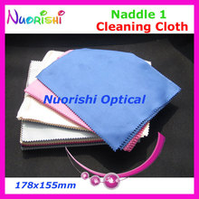 LC136 High Quality Naddle 1 Nice Color Microfiber glasses eyeglasses eyewear cleaning cloth 178x155mm free shippping(China)
