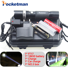4000LM LED Flashligh CREE XM-L T6 linterna led Waterproof Zoomable zaklamp Torch 5 modes 18650 Rechargeable Battery AAA  Co., Ltd.)