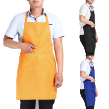 Unisex Cooking Kitchen Apron 77cm Long Section Simple Antifouling Male Female Chef Apron Adult Bib Apron Dress with Pocket(China)