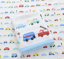 160cm*50cm car fabric cartoon cotton fabric baby cloth sewing bedding kids bed linens pillow case diy craft  quilt tissue tecido