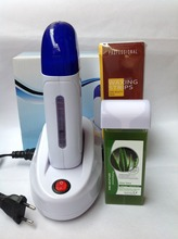 Wax Heater Sets One Seat Safe Painless 220-240V EU Plugs Shaving Depilatory Wax * 1 + Hair Removal Machine * 1 + Paper * 100