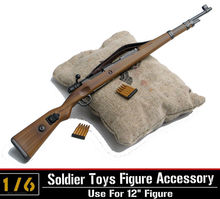 "1:6 Scale Soldier Figure Accessory Dragon Karabiner Kar.98k CARBINE Rifle Clip W/Sandbags WWII German Army 12"" Action Figure(China)"