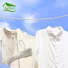 10M Multifunction Clothes Line Rope Clothesline Drying Rack Clips Cloth Hangers Steel Clothes Line Pegs Travel Clothespins(China)