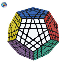 Shengshou Gigaminx Magic Cube Black/White Color Professional Magic Cube Learning Educational Toys(China)