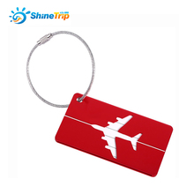 2PCS Cheap Aluminum Travel Luggage Suitcase Tags ID Address Tags Backpack Airplane Cartoon Label Creative Printed Baggage Straps