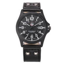 Vintage Classic Men's Waterproof Date Leather Strap Sport Quartz Army Watch Comfortable Handsome Hot Selling Elegant Durable M1