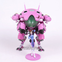 Hot Game Hero Hana Song D.VA with Mecha PVC Figure Collectible Model Toy 24cm