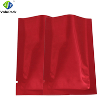 "High quality 7x10cm (2.75x4"") heat seal metallic mylar plastic bag reclosable foil packaging gift powder storage open top bag(China)"