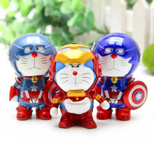 New style cute Marvel's The Avengers DORAEMON aptain IRON MANS Toys Action Figures Model Doll Collectible Model toys  Best gift