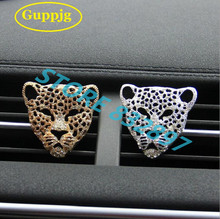 10pcs/lot Fashion Car air freshener outlet perfume car styling Metal diamond Leopard clip Fragrances Air purifier decorations
