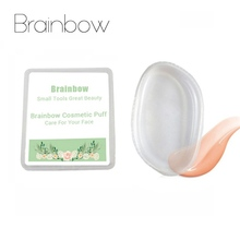 Brainbow 1pc Silicone Sponge Cosmetic Puff Jelly Sponge Makeup Blender Puff For Liquid Foundation BB Cream Lady Beauty Essential(China)