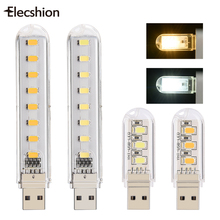 mini USB lamp 5730SMD 3 LEDs Book lights LED Bulbs Tubes Camping Bulb usb led Night light For PC Laptops for Notebook Reading(China)