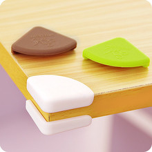 4PCS PVC Soft Baby Children Kids Safe Bed Table Desk Corner Protector Cover Furniture Accessories White Green Coffee