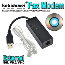 kebidumei Portable Dial Up Voice External USB 2.0 56kbs USB Fax Modem with Telephone RJ11 Cable for Windows XP/ Win 7/8/Linux(China)