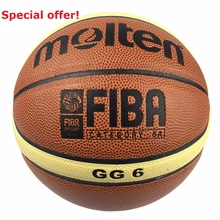 Brand Basket Genuine Molten GG6 Basketball Ball PU Materia Leather Official Size 6 women Basketball Free Net Bag+ Needle