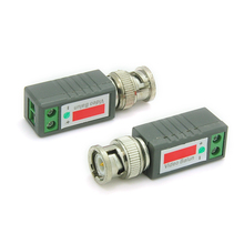 Video Passive UTP Balun Cat5 BNC Male Connector Twisted CCTV Transmitter