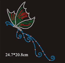 4pcs/lot Candy color butterfly design hotfix rhinestone transfer motif rhinestone,embellishment,garment accessories(ss-4321)