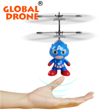 Global Drone 2ch remote control Spaceman Helicopter induction aircraft toy helicopter drone indoor children gift Toys(China)