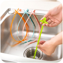 1Pcs Household Kitchen Pipe Dredge Sewer Toilet Drainage Anti - Blocking Cleaning Hook Water Pipe Cleaning Brush
