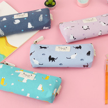 South Korea Creative Gift Cat Elements Stationery cute Pen Bag Cosmetic case Pencilcase Pencil Pouch Pen Bag School Tools