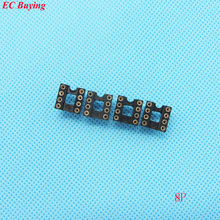 30pcs Round Hole 8 Pin 2.54MM DIP IC Socket Adaptor Solder Type IC Connector (If you need other quantity, please contact us )