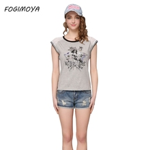 FOGIMOYA T Shirts Women 2017 Summer Fashion Striped Print Patchwork Tops Women's Short Sleeve Grid Hollow Out O Neck T Shirts(China)