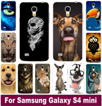 Free shipping Animal Pattern Lion Tiger Dog Owl custom printed cell phone case cover skin Shell for Samsung galaxy S4 mini I9190