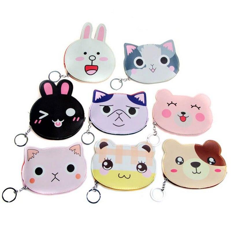 1 pcs New cartoon animals pu leather zipper key bag zero wallets child girl boy gift purse, lady coin wallets Free shipping<br><br>Aliexpress