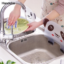 Kitchen Panda Shape Sink Water Splash Pool Impermeable Baffle Plate Gadget Suction Cups Rack Tools Random Color