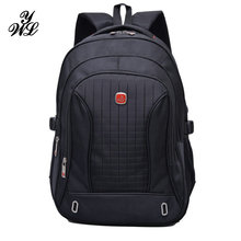 WYL Nylon Black Backpack Waterproof Men's Back Pack 15.6 Inch Laptop Mochila High Quality Designer Backpacks Male Escolar-FF