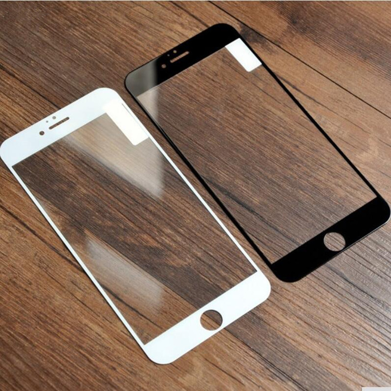 full cover tempered glass for iphone 6s plus 7 plus black and white 9H 0.26mm HD clear