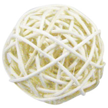 12 pcs 3cm Rattan wicker ball for garden, Wedding, Party decoration white