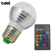 Buy EDAL 3W RGB LED Magic Light Bulb Lamp + 24Key IR Remote Control Colors Change New Hot Smart Home Illumination Hot Sale for $2.83 in AliExpress store
