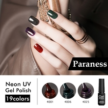Paraness Neon Shining Nail Gel Polish Long Lasting Hybrid Gel Varnish Soak Off Manicure Set Top And Base Coat Gel Lacquer